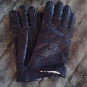Mens leather winter glove